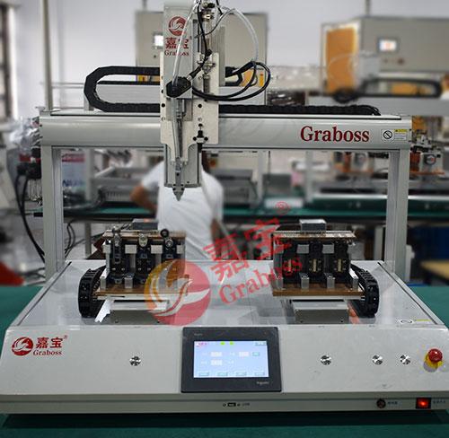 上海某有限公司桌面螺丝机四轴双Y锁行程开关案例
