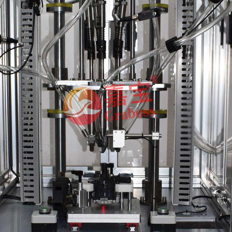 昆山锁电器配件五(5)轴固定式自动拧螺丝机案例