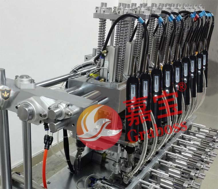 江苏苏州嘉宝多轴固定式五、六、七、八、九(5、6、7、8、9)轴自动锁螺丝机案例