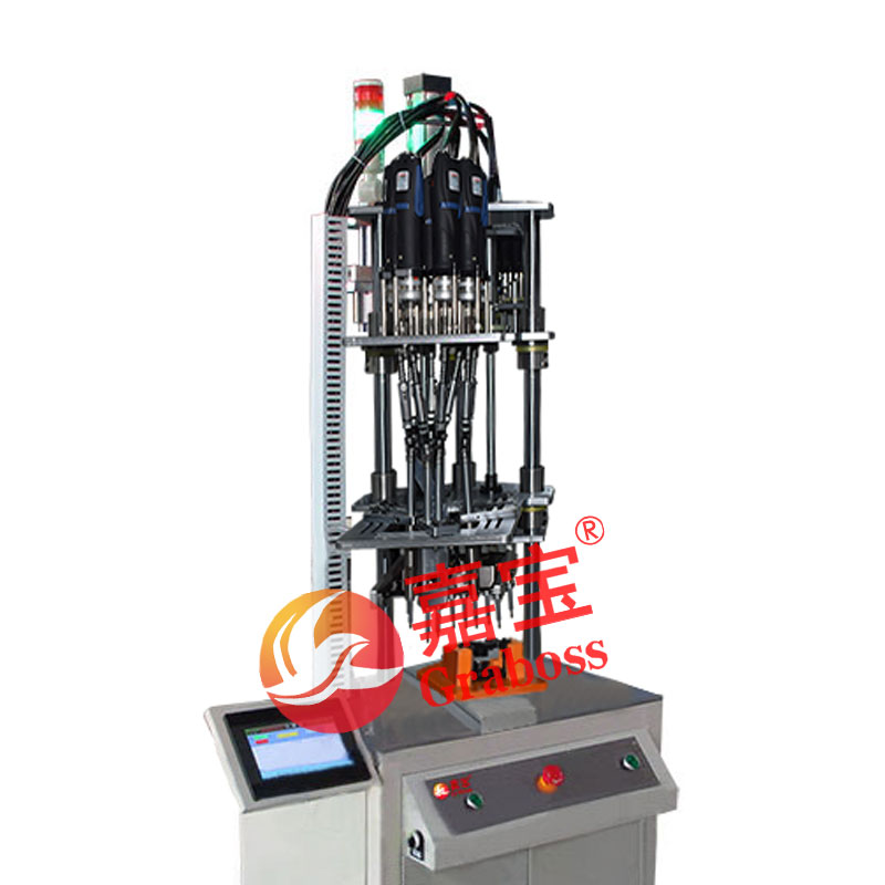 江苏太仓某有限公司落地式9(九)轴固定式自动退螺丝机案例
