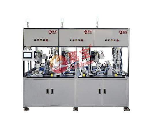 上海某公司生产窗钣金模组自动锁螺丝机案例