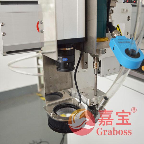螺丝机CCD镜头定位细节展示