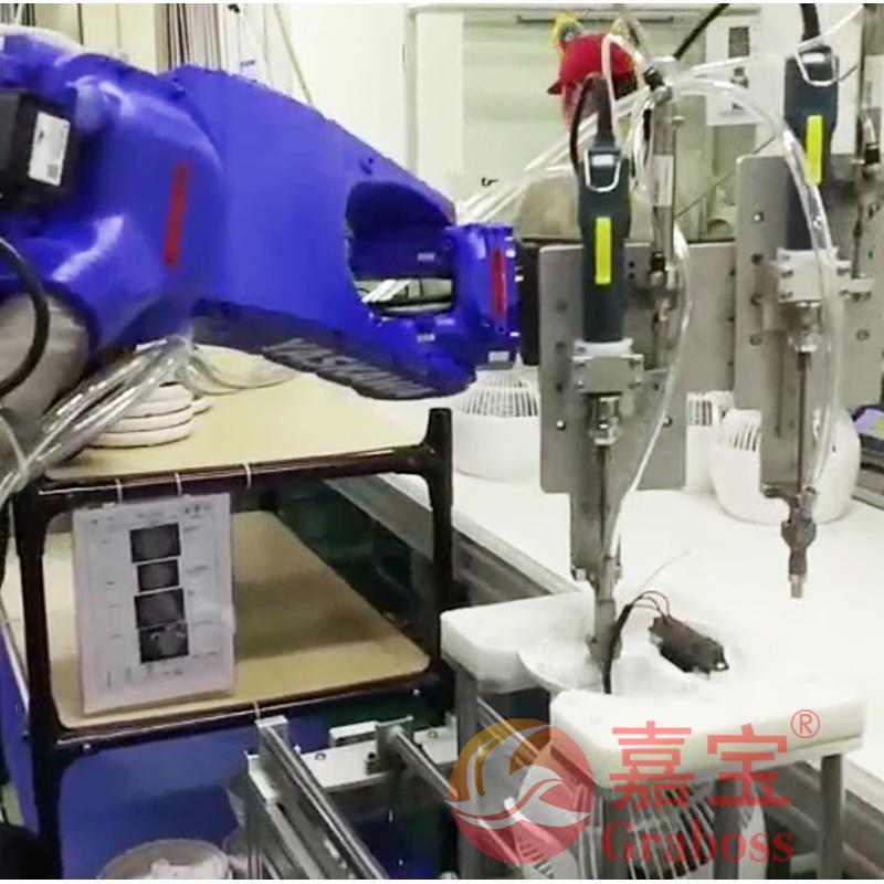 嘉宝六轴机器人全自动锁螺丝机