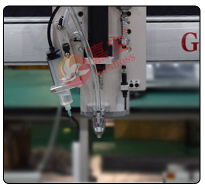 桌上型气吹式锁器材配件螺丝机点胶模组和夹嘴图