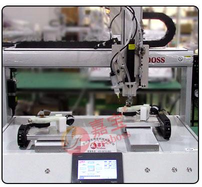 坐标式双Y轴点胶+锁付器材配件螺丝机——操作图