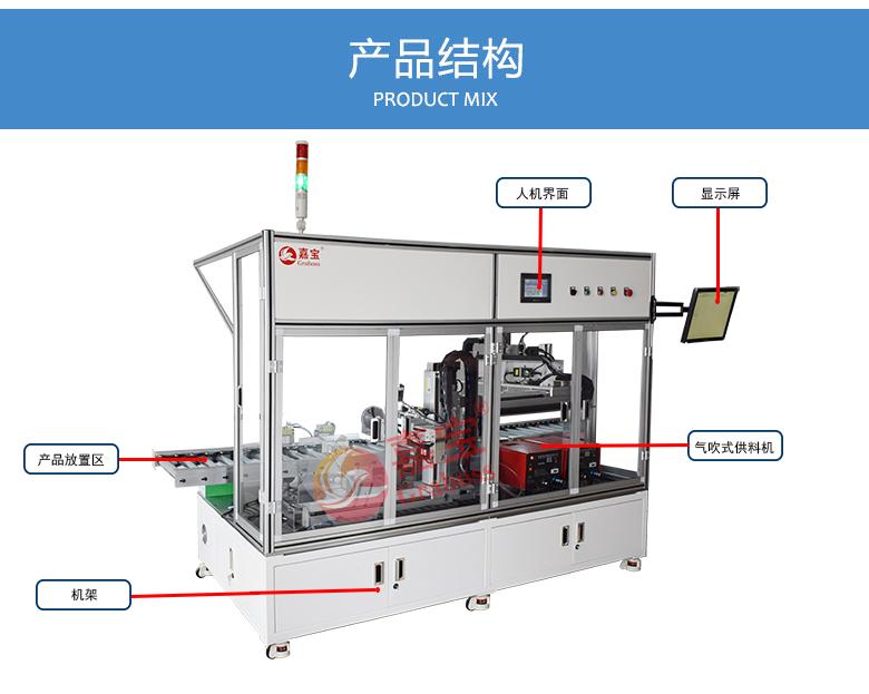 在线式气吹锁打印机全自动螺丝机结构图