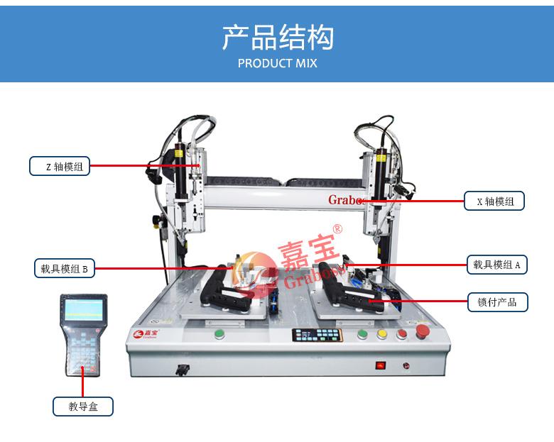 桌面型锁螺丝机_双三轴吹气式锁加油枪螺丝机结构图