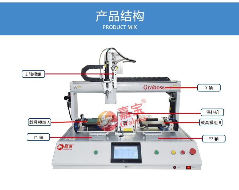 桌上型吸气式锁螺丝机-电路板拧紧机设备结构图