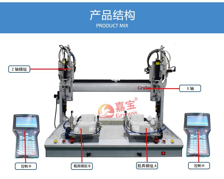 嘉宝桌面型锁螺丝机-吹+吸全自动锁螺丝机结构图