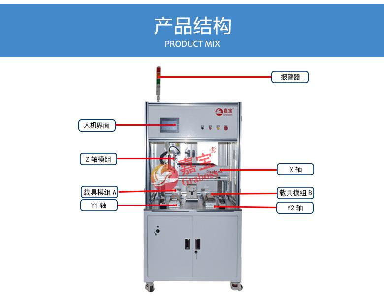 嘉宝落地双Y轴吸气式锁电子产品配件螺丝机结构图