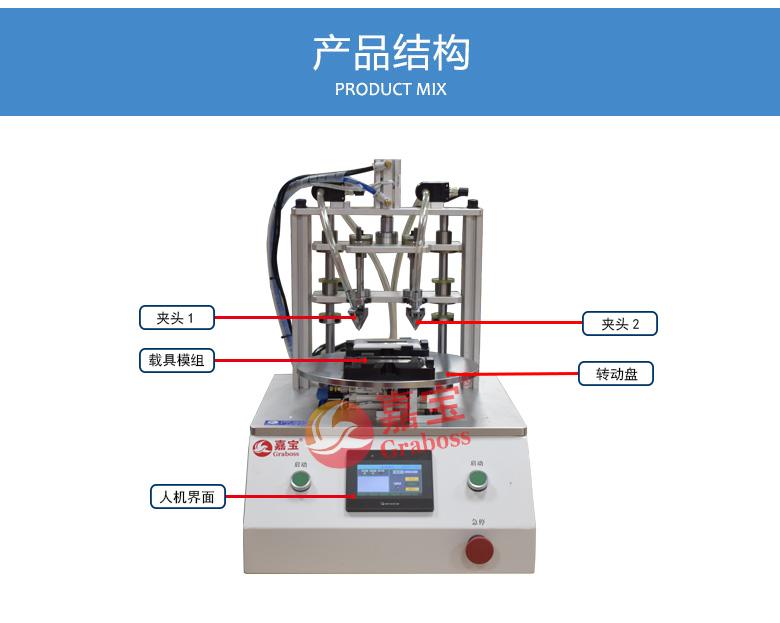 桌面型锁螺丝机-双三轴气吹锁开关面板螺丝机-分解图