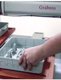 嘉宝GBL-CX331落地吹吸式自动锁塑料配线箱螺丝机-操作图