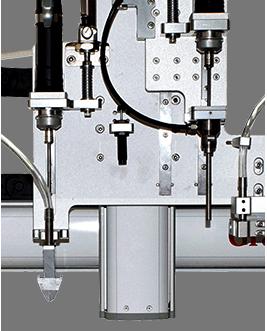 桌面型吹吸式双电批锁风扇马达罩螺丝机-自动送料图