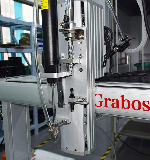 三轴吹气式锁电池组外壳全自动螺丝机图片
