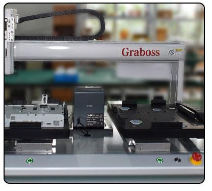 桌面型四轴吸气式打印机电路板外壳自动锁螺丝机-细节图-5