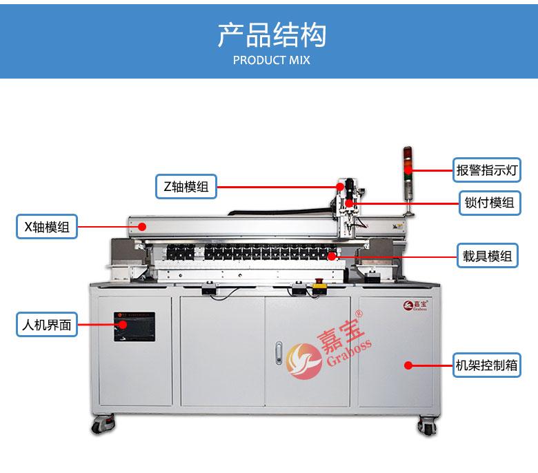 大型锁打印机配件螺丝机结构图