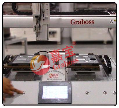 桌面型四轴双Y锁苹果配件螺丝机操作图