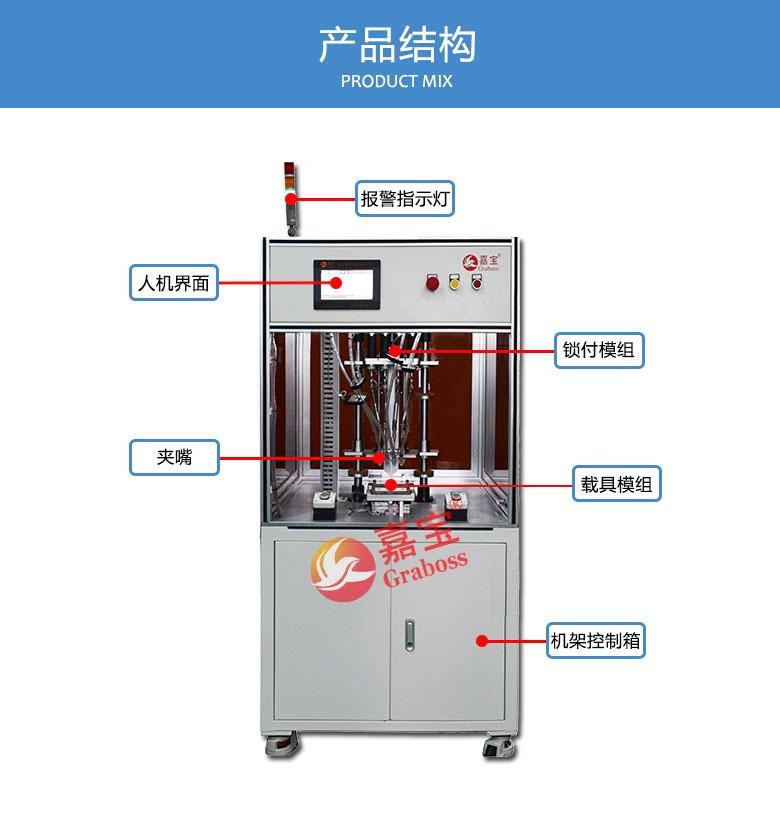 四轴锁螺丝机锁机器配件多轴锁螺丝机机结构图