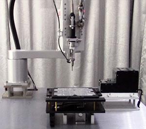 机器人自动锁螺丝机运作图